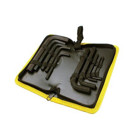 Zestaw imbusów w materiałowym etui 10el.