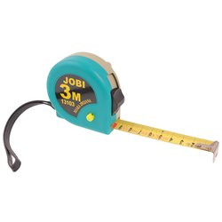Miara zwijana Jobi metalowa 3m/mm metrówka metr taśma miernicza
