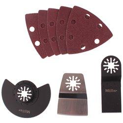 Zestaw akcesoriów do multitoola papiery delta brzeszczoty noże ostrza