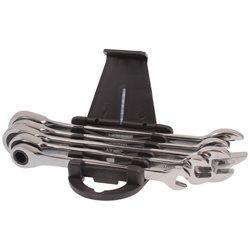 Klucze płasko-oczkowe z grzechotką 8-14mm 5 el.