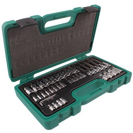 """Zestaw narzędzi HONITON 40el. kluczy nasadowych 1/2"""" i 1/4"""" Imbus, torx, torx wewnętrzny"""